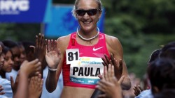 Lagos Martathon gets high five from Paula Radcliffe